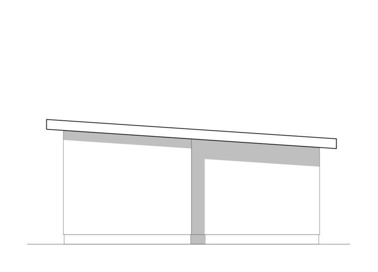 mono-roof design   metal roofing on site by owner
