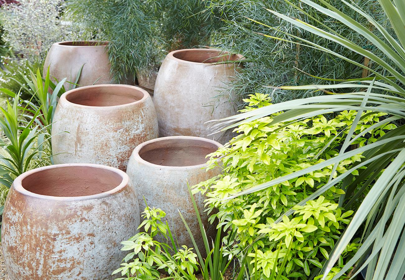 Rustic Ceramic Glazed Pots And Planters