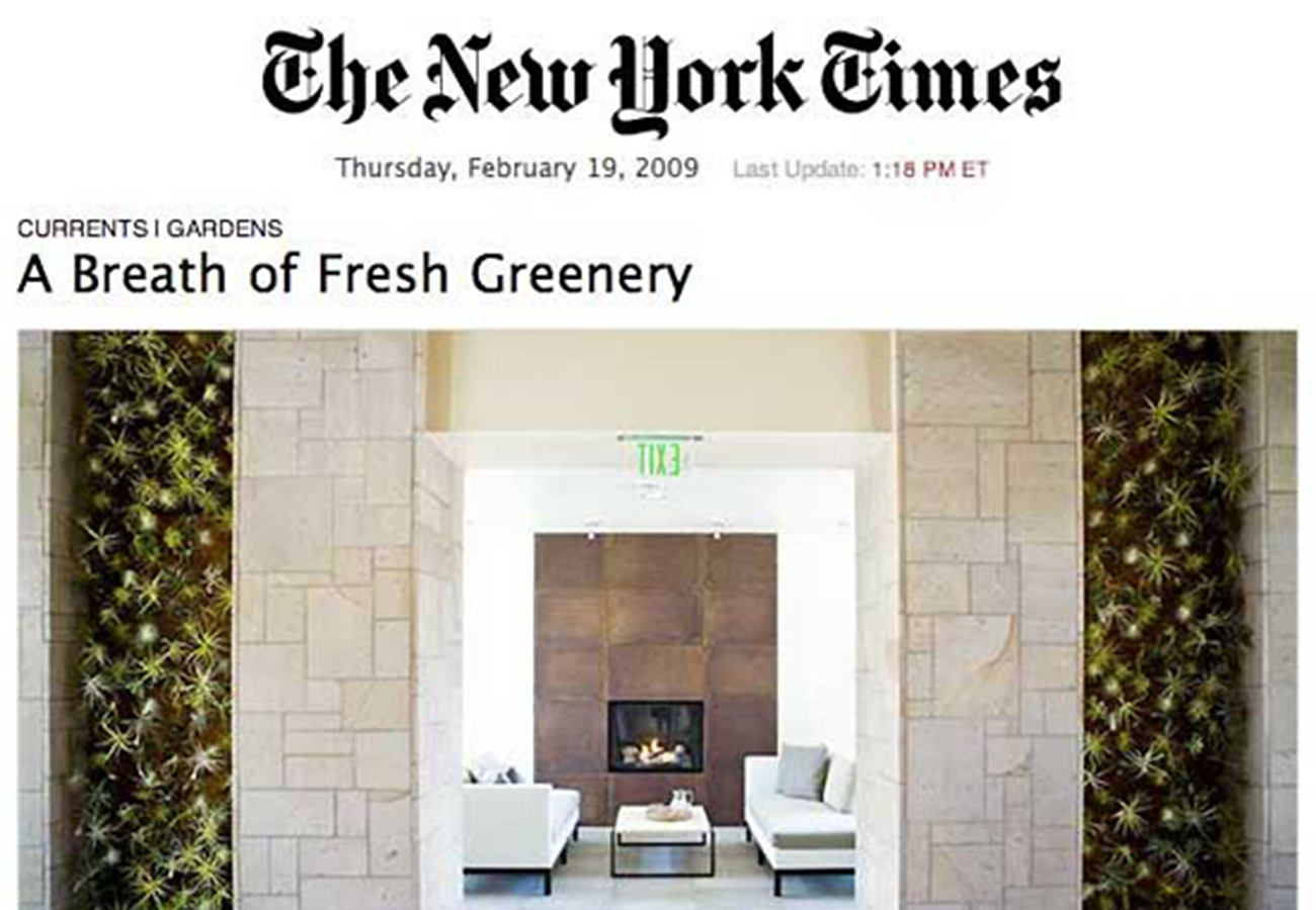 Flora Grubb Gardens in the New York Times 2009.png