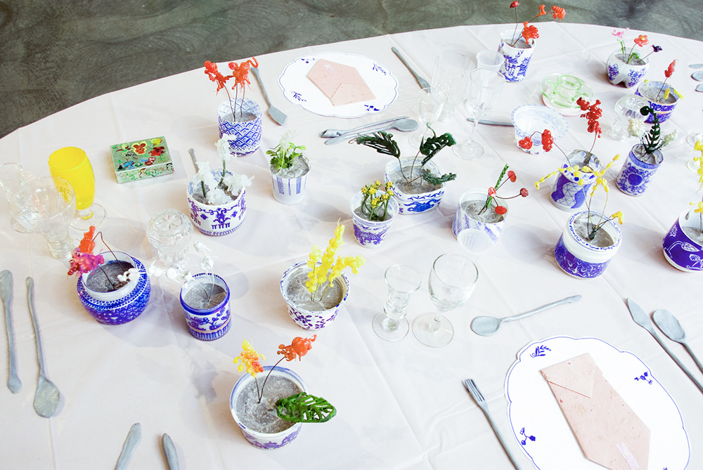 Sarah Goffman, Happiness Table, 2008, Paradise Found, Tin Sheds Gallery, The University of Sydney, Sydney