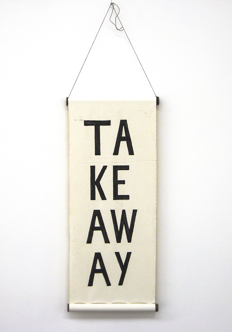 Sarah Goffman, Take-away, 2009, Group Show, Breenspace, Sydney (photo: Jamie North)