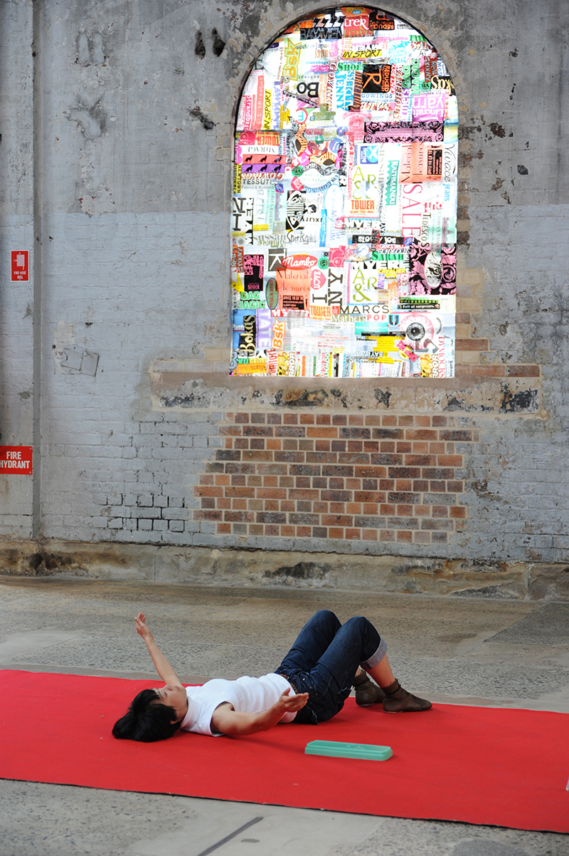 Sarah Goffman, Trashcan Dreams, 2010, featuring Lena Ritchie, curator Bec Dean, Performance Space, Sydney (photo: Garth Knight)
