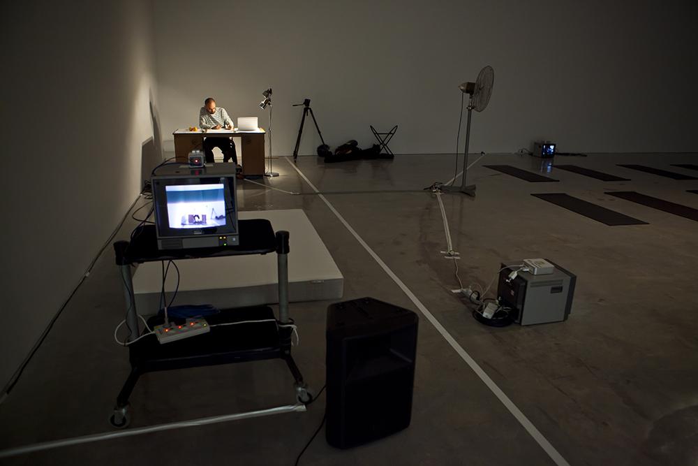 Sarah Goffman, Oki-do Yoga, 2013, Workout, curator Anna Davis, Museum of Contemporary Art, Sydney