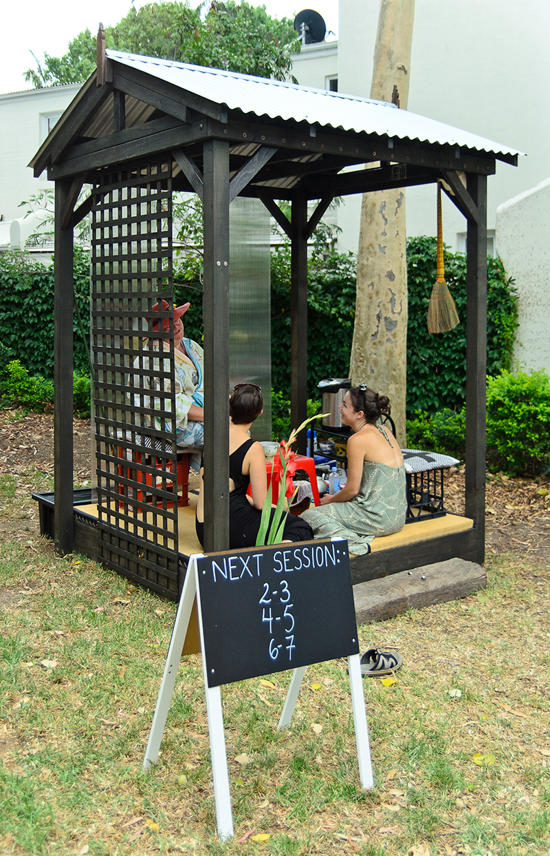 Sarah Goffman, Wabi-Sabi Afternoon Tea, 2013, Micro Parks, Sydney Festival, co-ordinated by Performance Space, Sydney