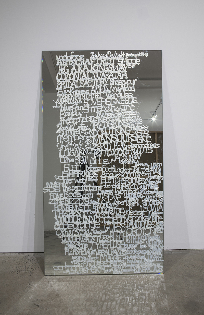 Sarah Goffman, Small Mall part 1, 2013 in JANIS II, 2013, Mclemoi Gallery, Sydney (photo: Jessica Maurer)