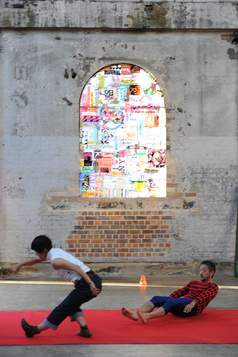 Sarah Goffman, Trashcan Dreams, 2010, featuring Lena Ritchie and Morita Yasuaki, curator Bec Dean, Performance Space, Sydney (photo: Garth Knight)