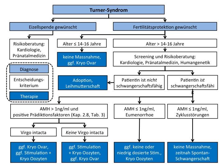 Turner-Syndrom-Flussdiagramm