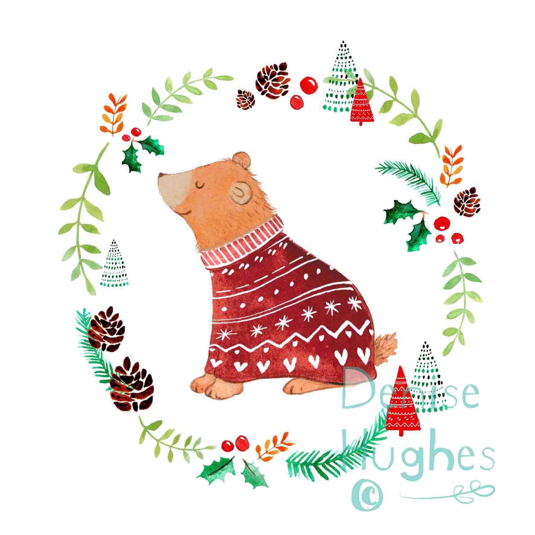 Woodland Christmas bear.jpg