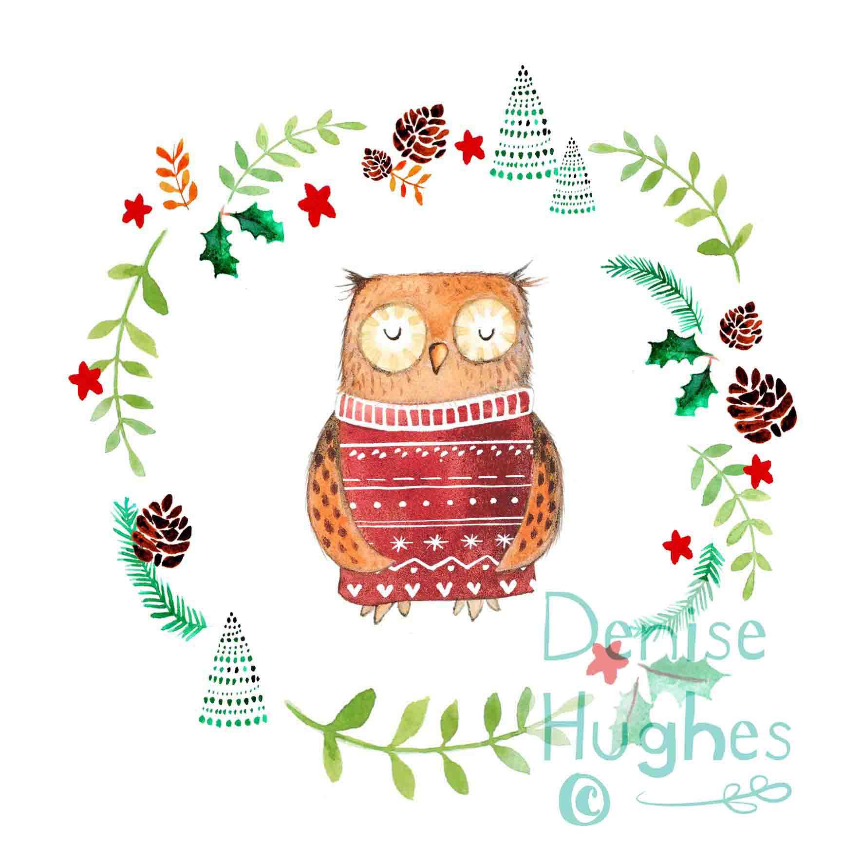 Woodland Christmas owl.jpg