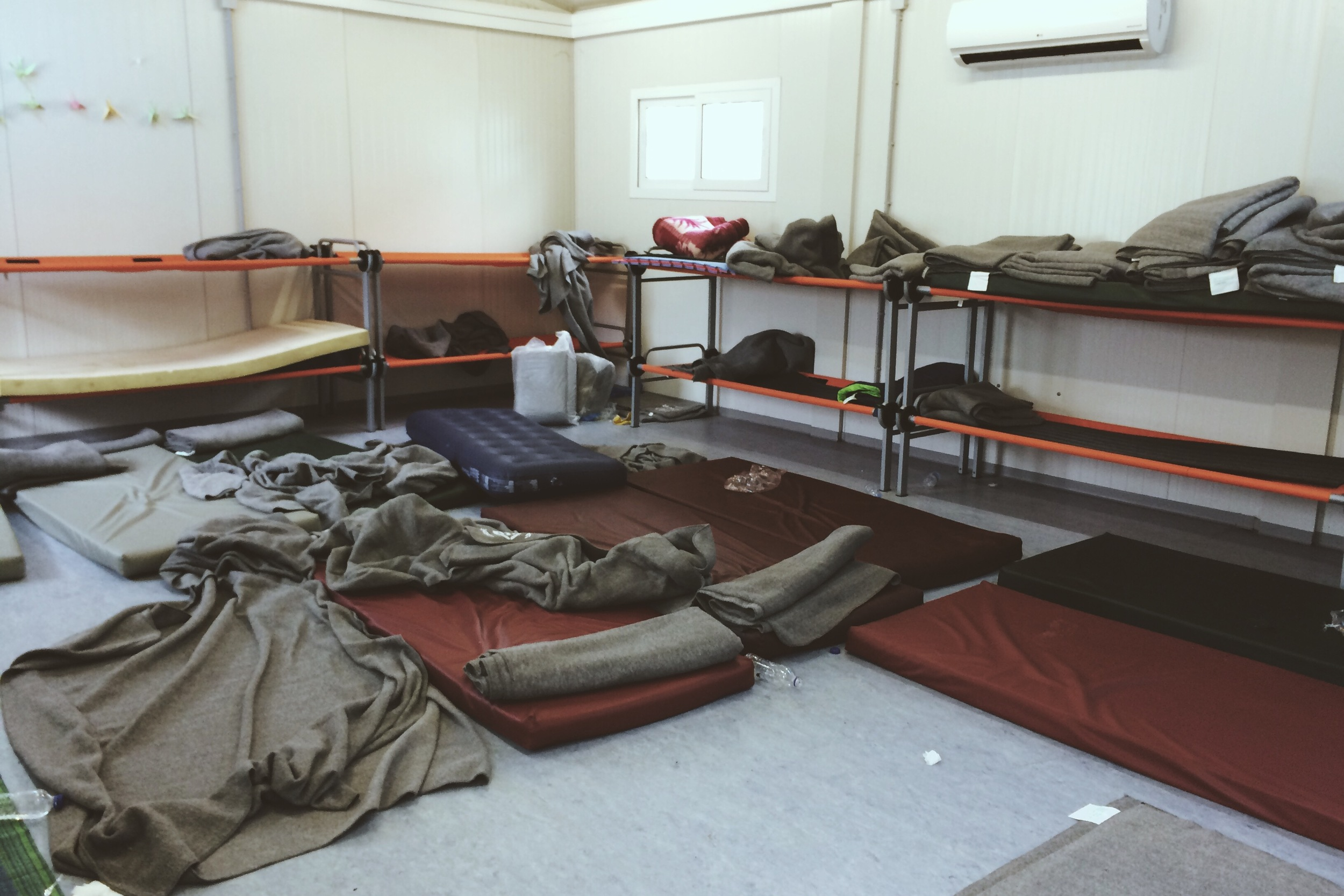 A family compound dorm room, the morning after.