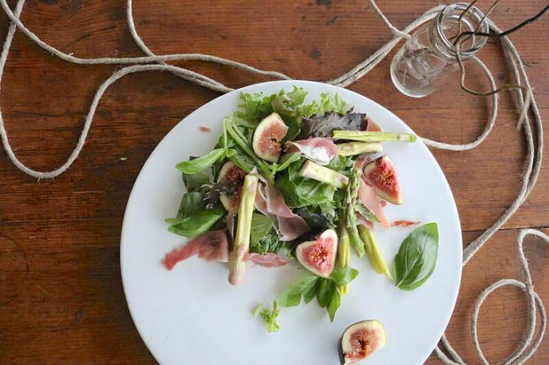 Fig, Pruscuitto & Asparagus Salad