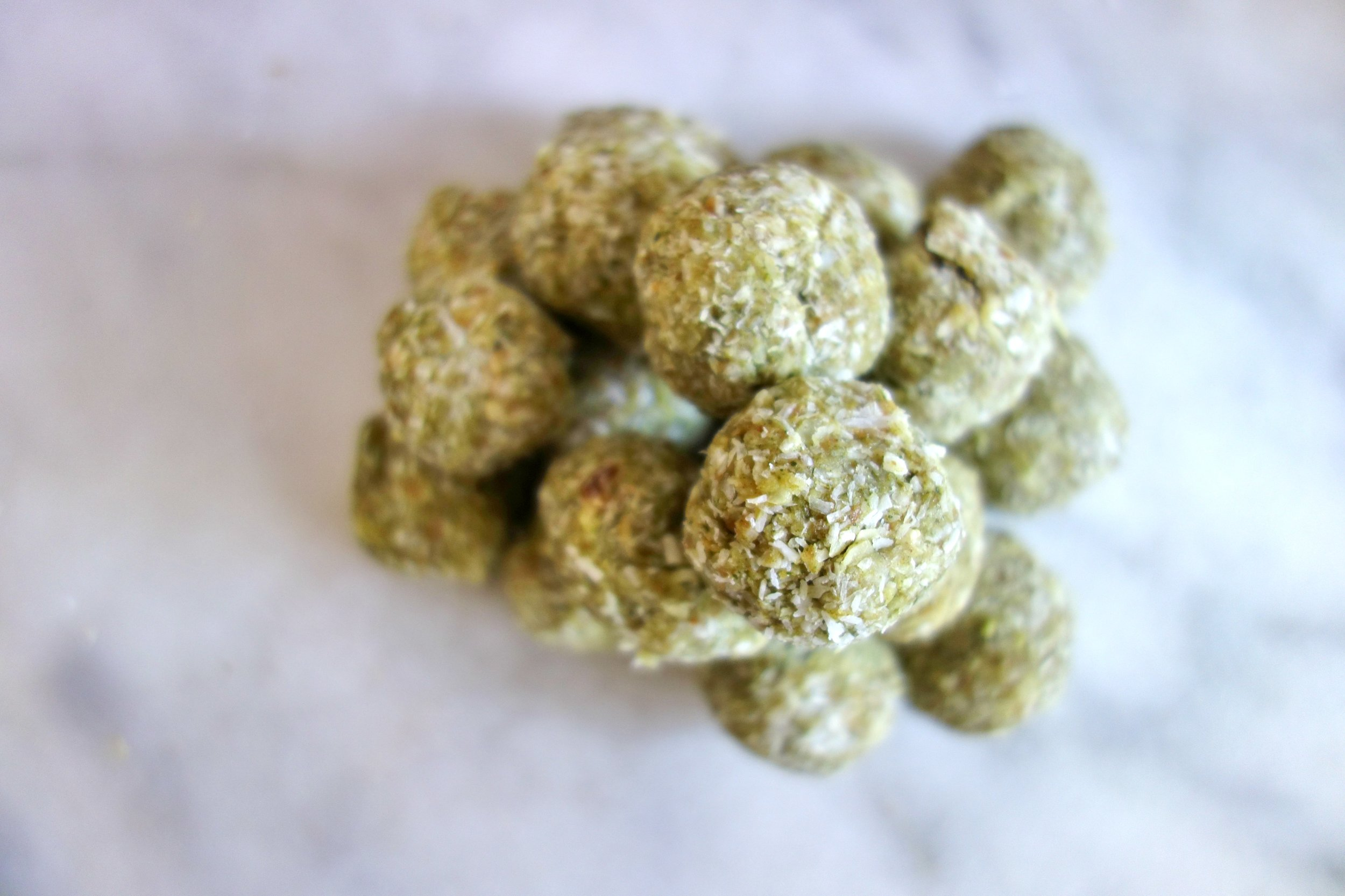 Coconut Matcha Bliss Balls