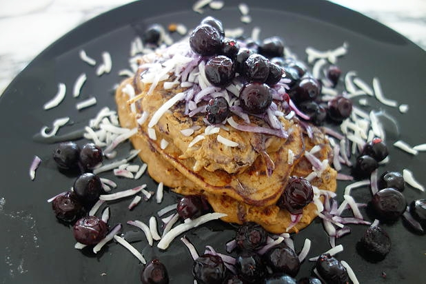 Blueberry & Coconut Pancakes