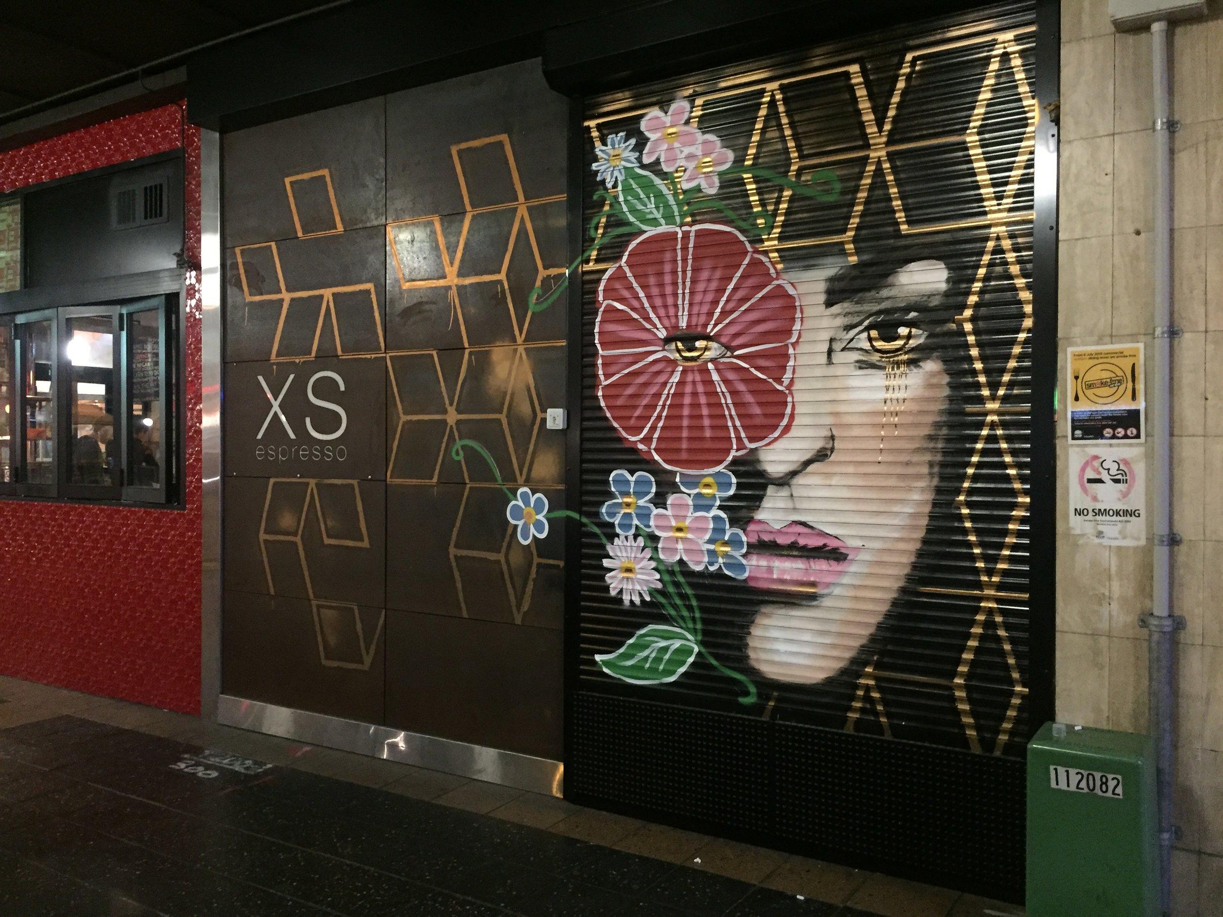 Mural for XS Espresso