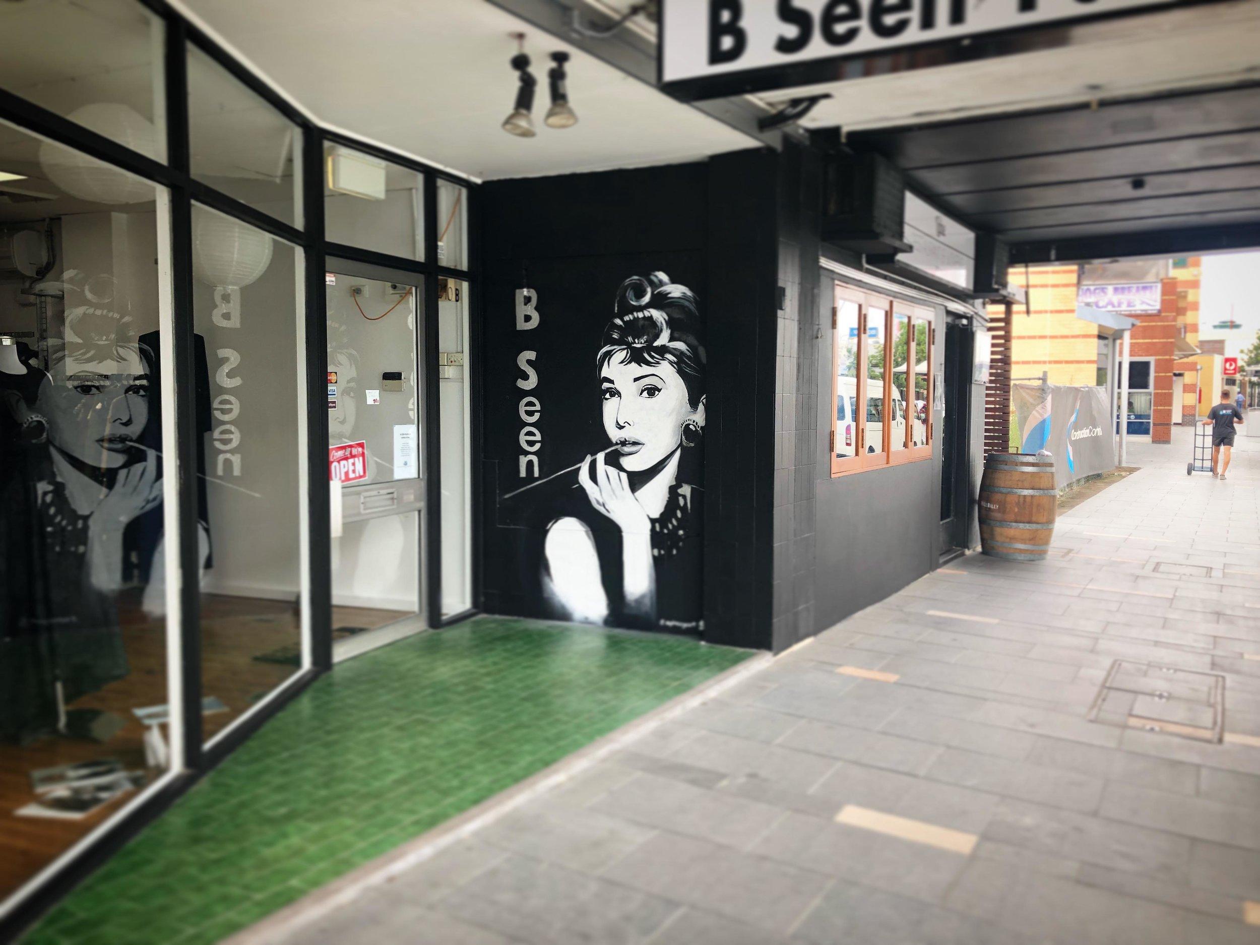 Mural for B Seen Fashion, 2018