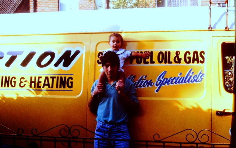 Dominic and son Ryan in 1990