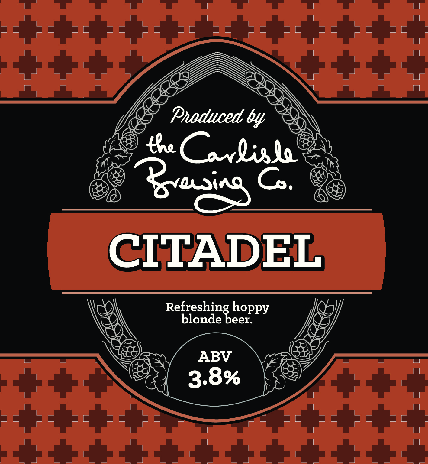 Light, crisp and very hoppy   Citadel is a fantastic, easy drinking hoppy beer. It's really refreshing and packed with flavour. At 3.8% it's an ideal session ale. We've used Styrian hops to provide a light aromatic bitterness with spicy and earthy notes. The Citadel in Carlisle and Carlisle Citadel Railway Station are highly impressive buildings in the centre of the city – we really hope you'll be impressed with our Citadel too!