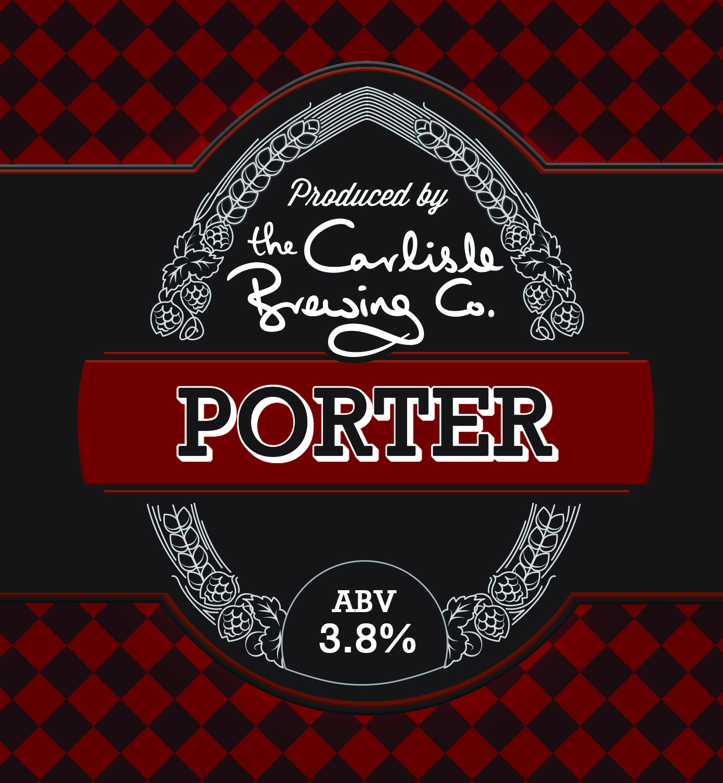 Dark ruby and hoppy   A traditional style of beer named after the porters in the London markets who used to drink it on a regular basis! A porter is a beer made with brown malt and well-hopped. The brown malt gives it a lovely ruby colour and the addition of American and New Zealand hops adds a pucnhy fruit flavour