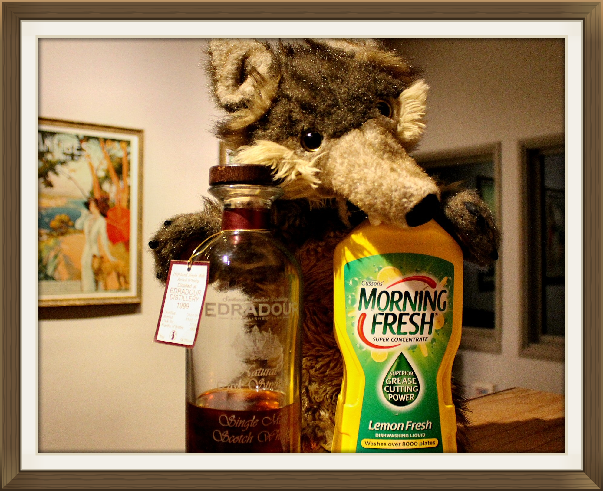 Hitch says one of these is too soapy. The other is dishwashing liquid.