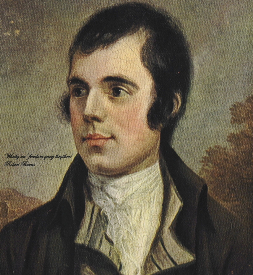 Rabbie Burns. This picture shamelessly recycled from the  Whisky Pages .