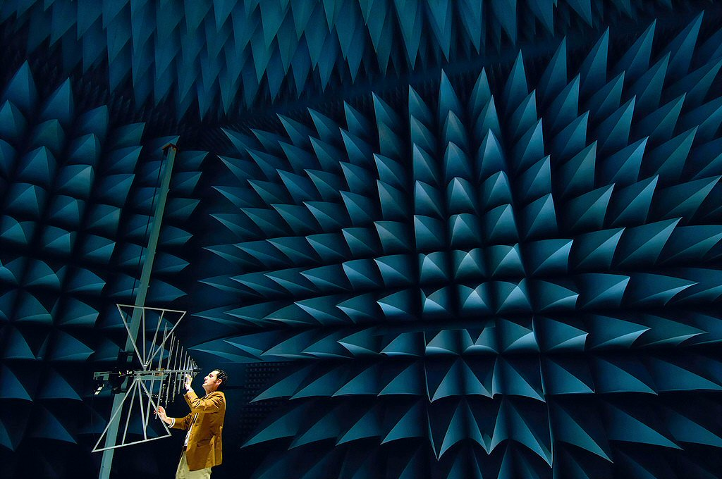 Is this A: An anechoic chamber? B: A porcupine refuge? Or C: An artistic depiction of my ex wife's personality?