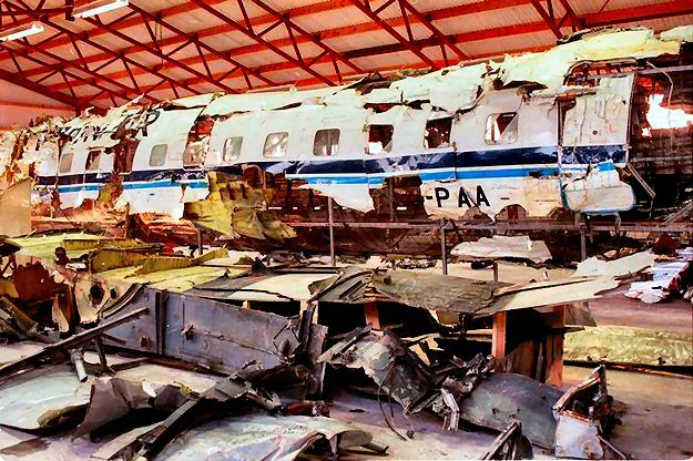 Partnair Flight 394 crashed due to counterfeit parts, killing 55 people.