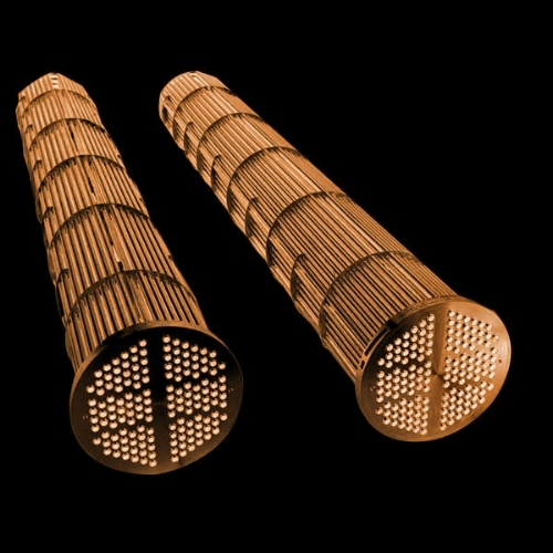 Shell and tube condensers, without the shells.
