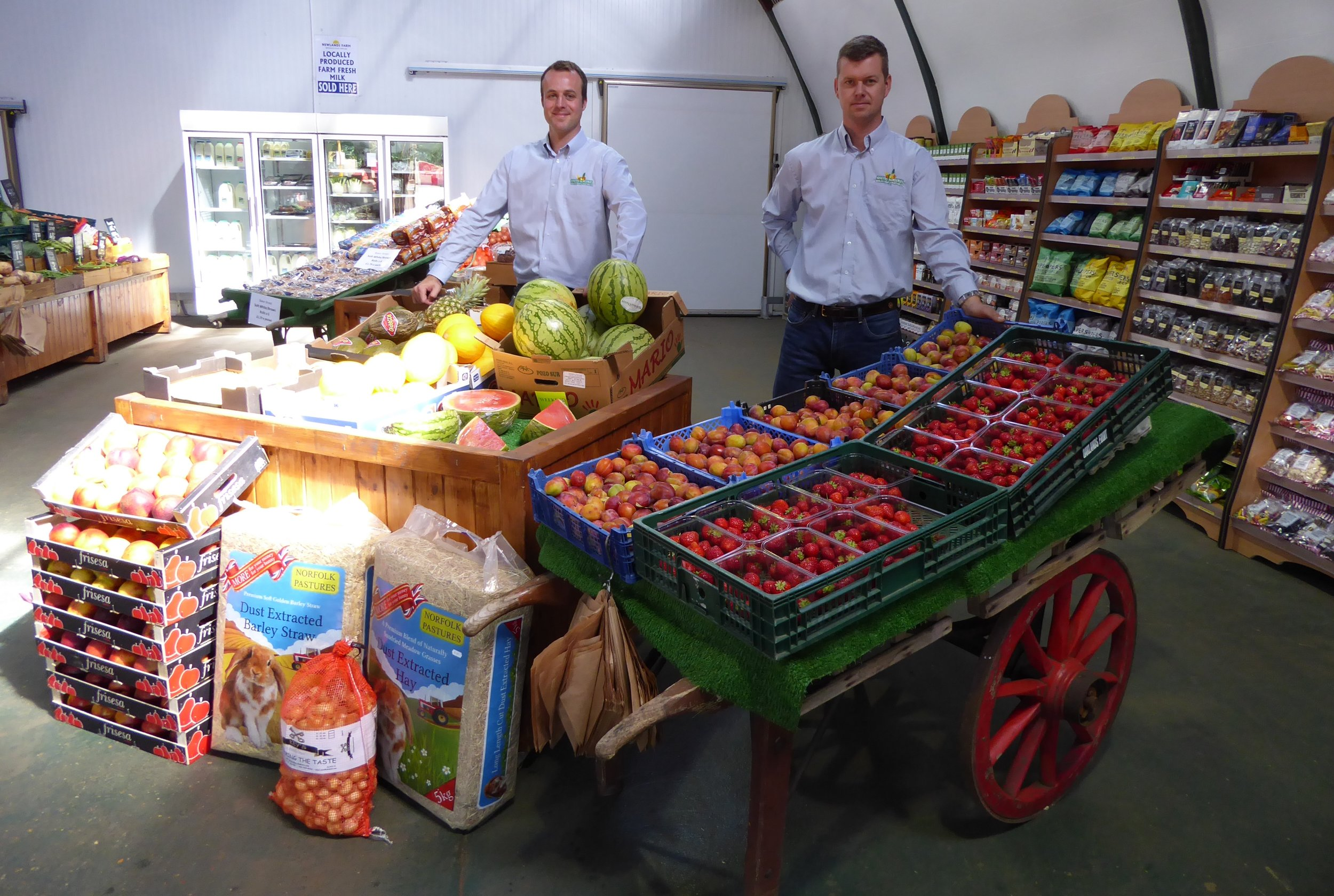 James and Edward White in the current farm shop