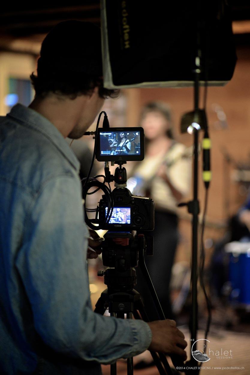 Heidi Happy Session - filming on set