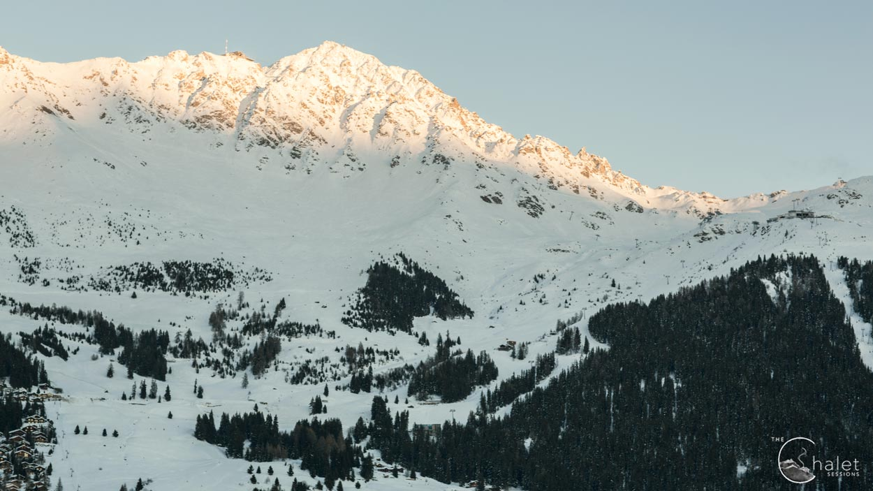 Martinez Session - view from Verbier chalet