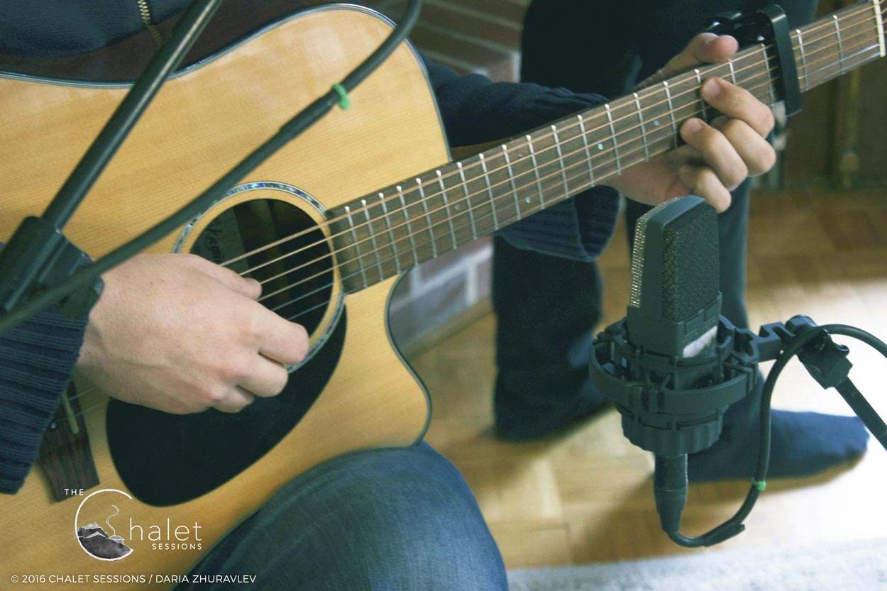 Craig Cardiff Session - playing acoustic guitar