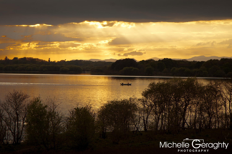 Sunset over Killarney Lakes, Co. Kerry, Ireland