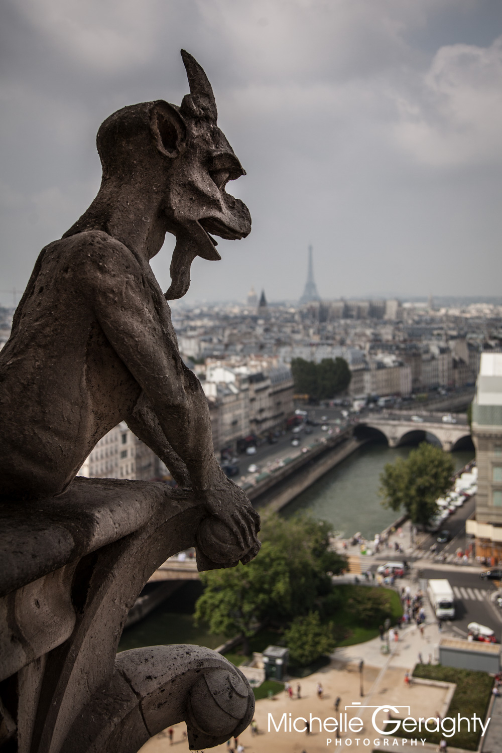 Paris View from Notre Dame Cathedral, Paris, France
