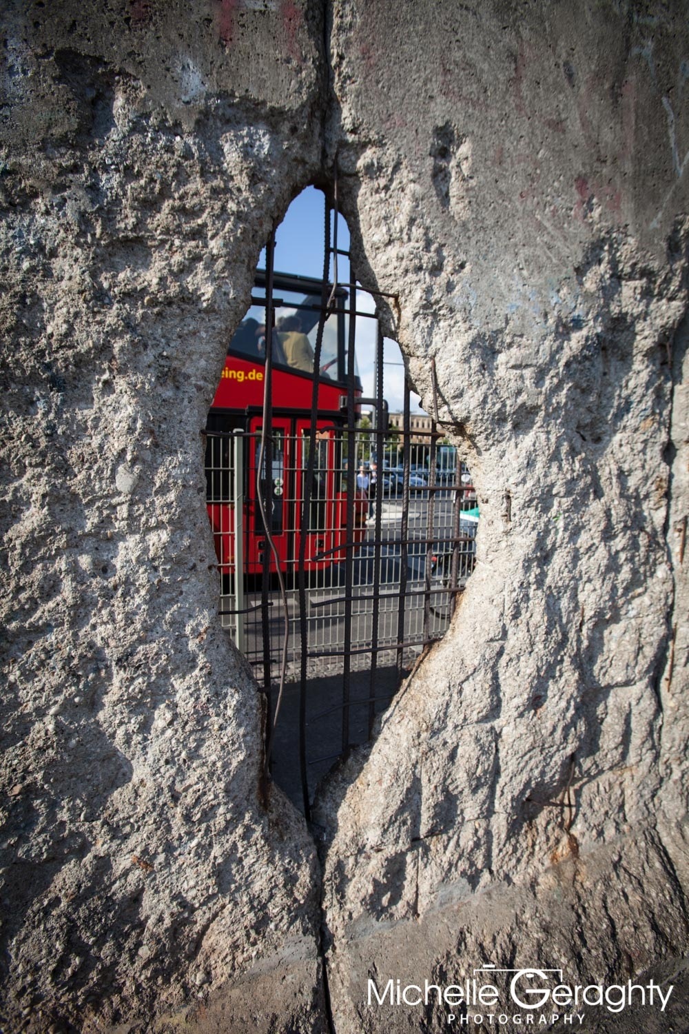 View through the Berlin Wall, Berlin, Germany