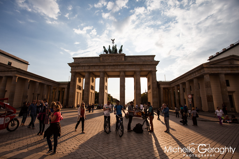 Sunset over Brandenburg Gate, Berlin, Germany