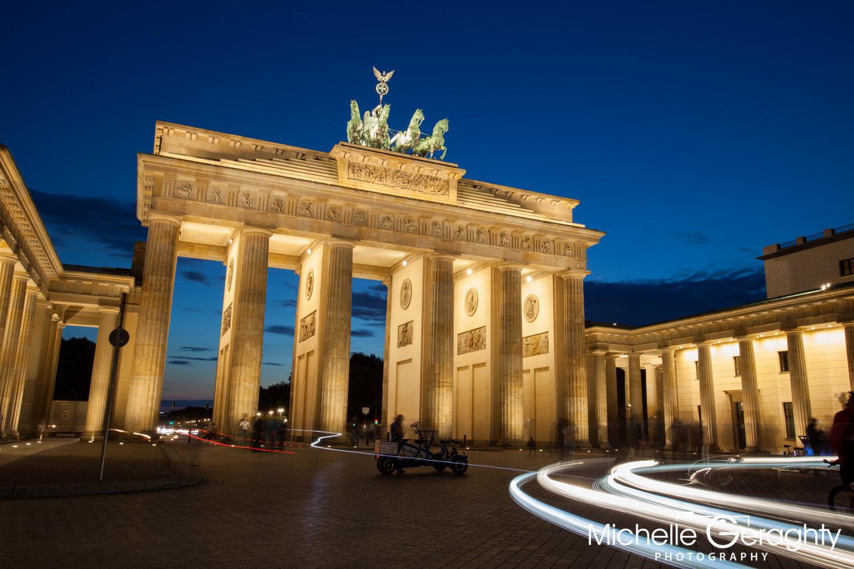 Brandenburg Gate by Night, Berlin, Germany