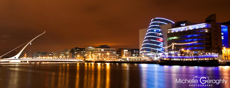 Sunset over Dublin Docklands, Ireland