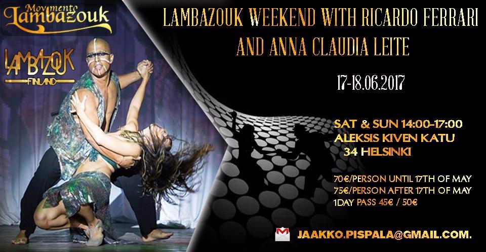 Lambazouk weekend with Ricardo & Anna Claudia (17-18 June)