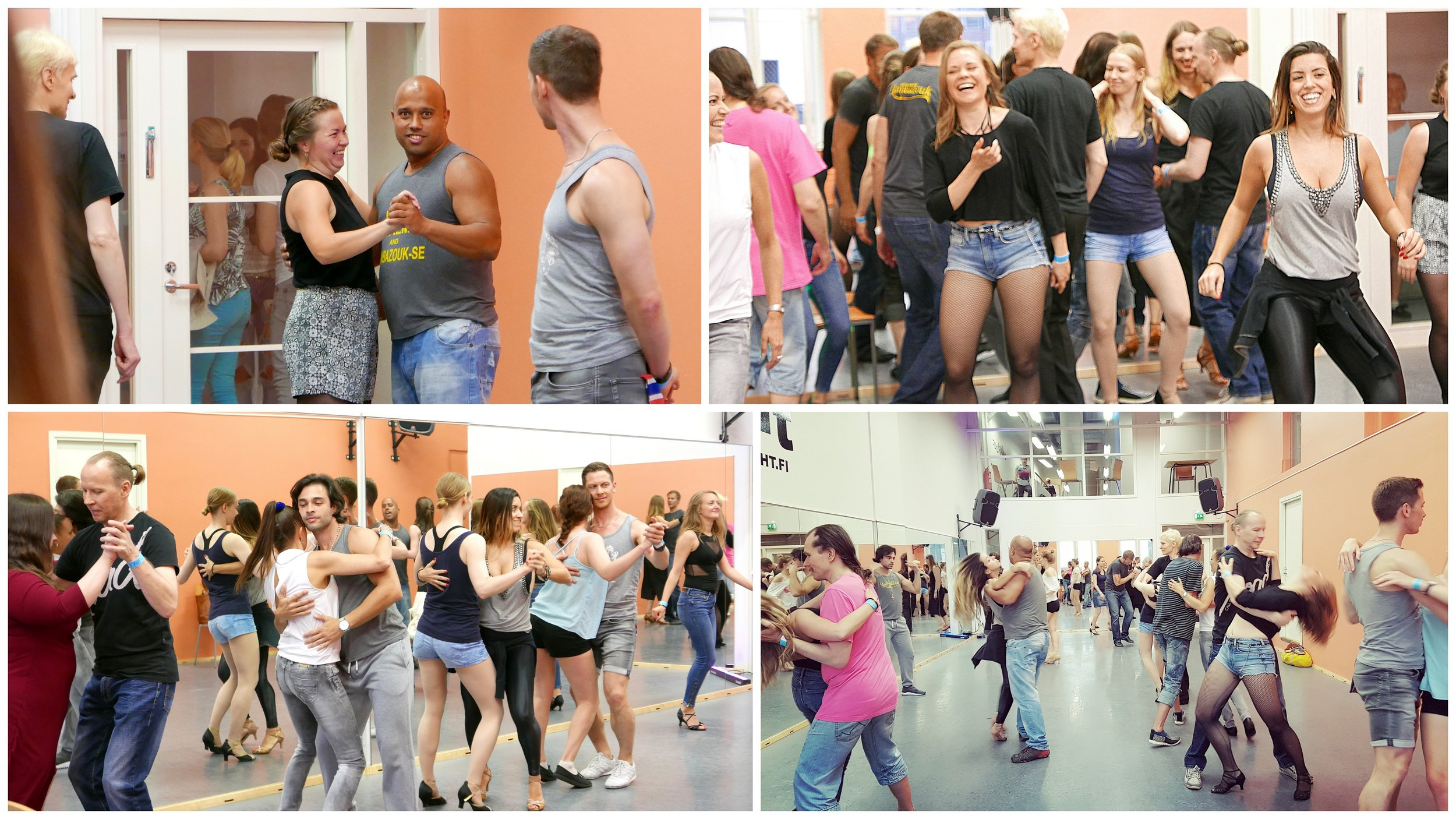 Workshop before the Saturday party at Footlight - getting the into the Lambazouk mood!