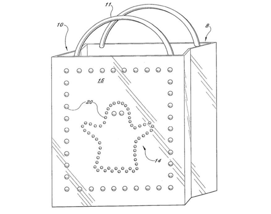 """Illuminated Carrying Device"" Patent Illustration from USPTO.gov."