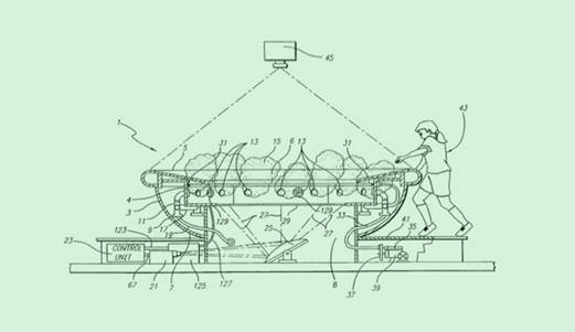 """""""Interactive Life Sized Bowl of Soup"""" patent illustration from afford.com."""