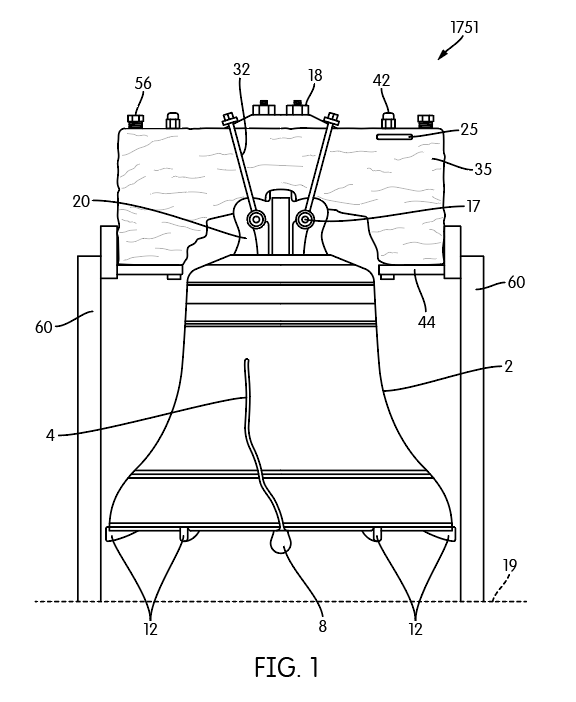 A Patent Illustration of The Liberty Bell.