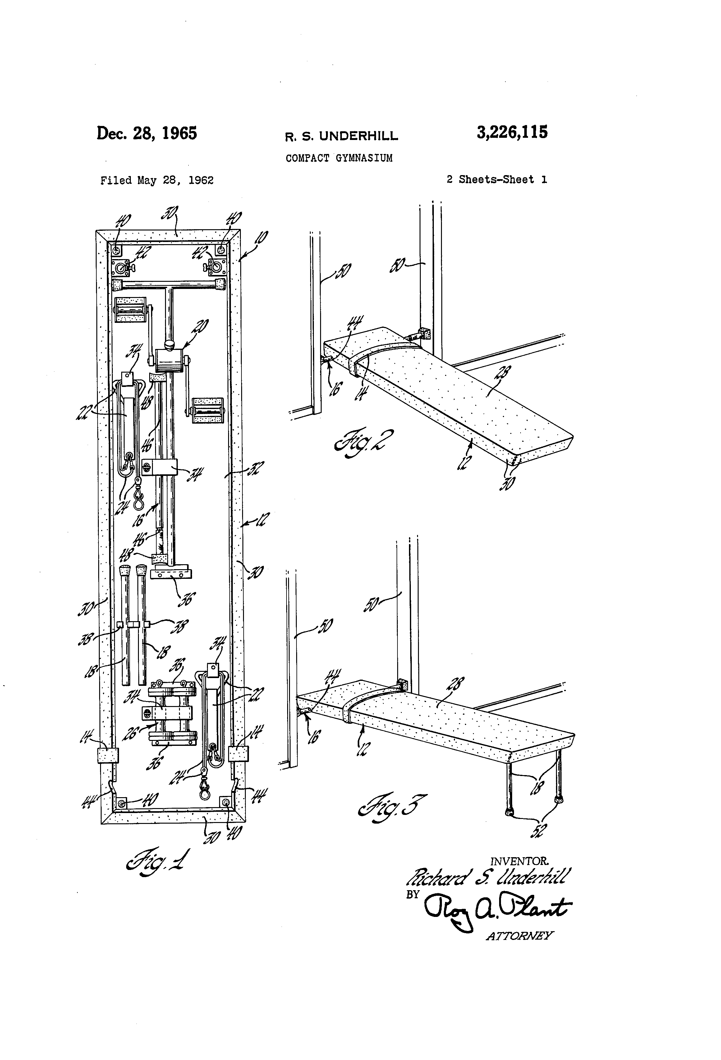 Patent Illustration for a Compact Gymnasium from  Google.