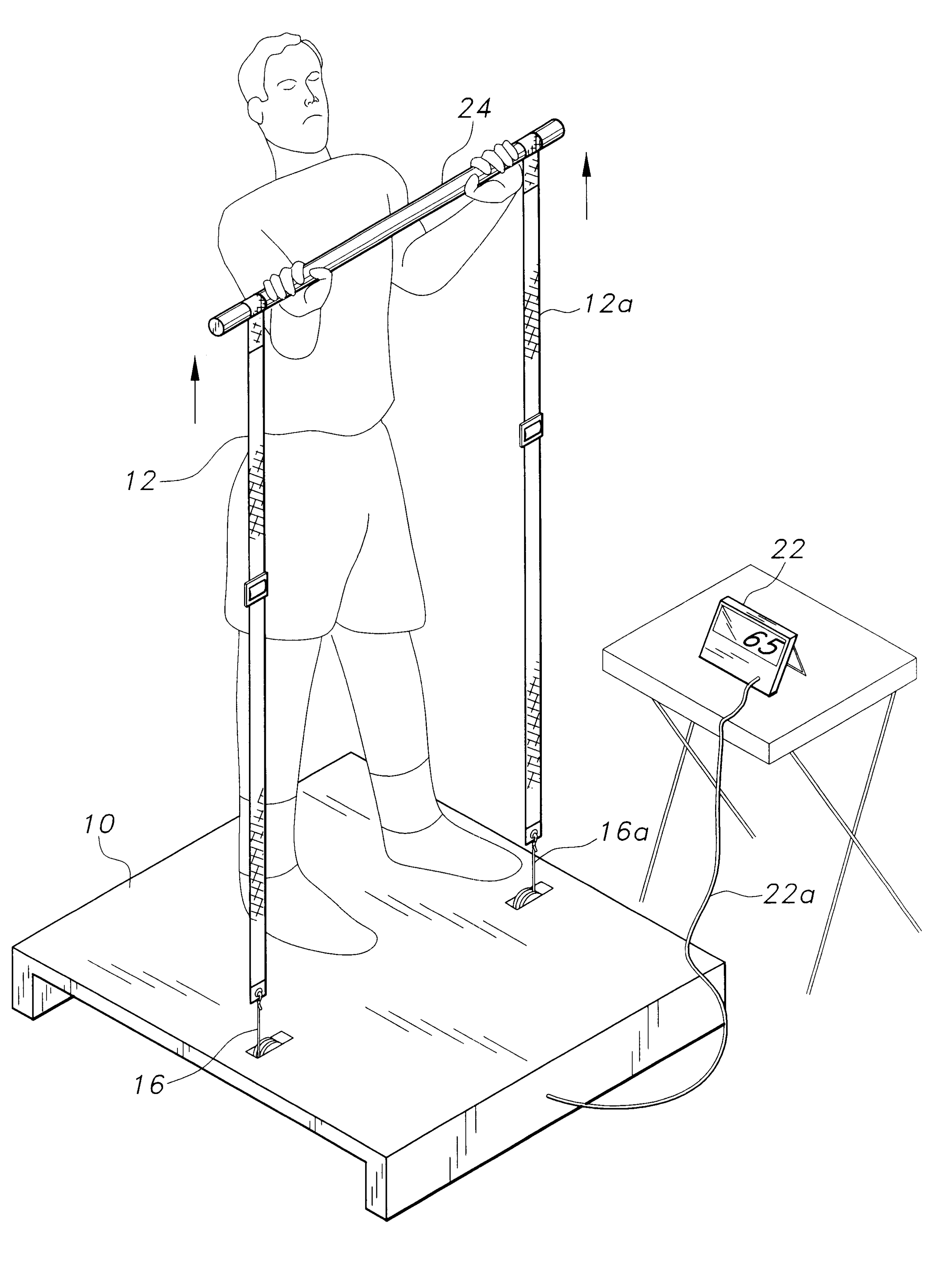 Patent Illustration for Portable Lightweight Home and Travel Gym from  Google.