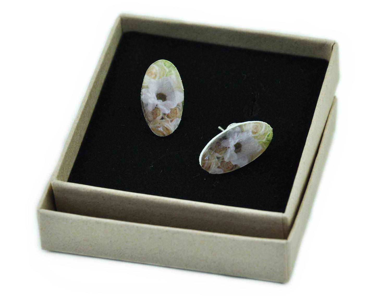 earrings, sterling silver