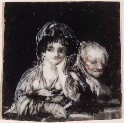 Federico de Goya, Maja and Celestina. Private Collection.