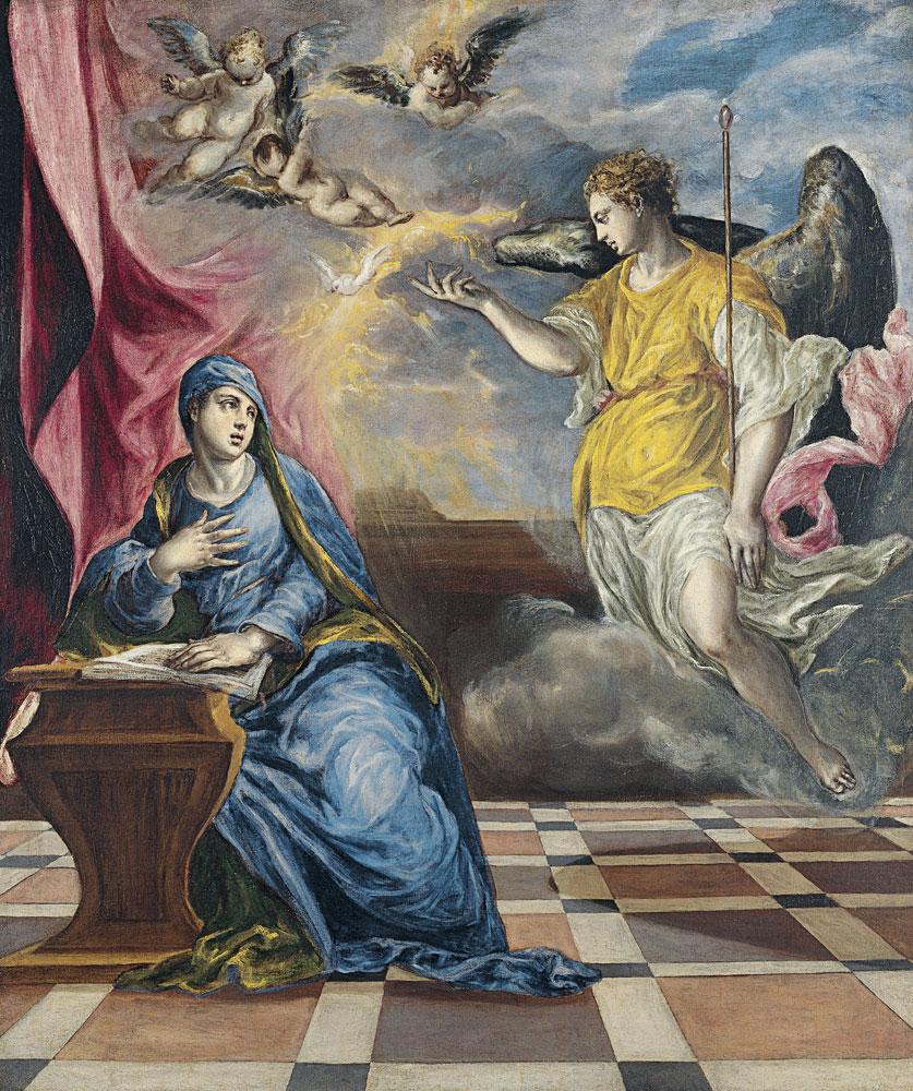 El Greco, The Annunciation. The Thyssen-Bornemisza Museum of Art.