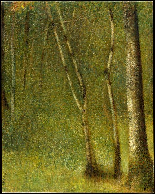 Georges-Pierre Seurat, The Forest at Pontaubert. The Metropolitan Museum.