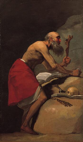 Francisco Goya. Saint Jerome. The Norton Simon Museum