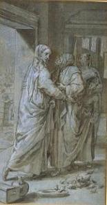 Pedro de Campana, The Visitation. The Morgan Library.